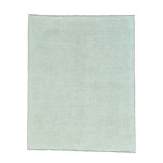 Pure Wool White Wash Oushak Hand-knotted Oriental Rug (5' x 6'3)