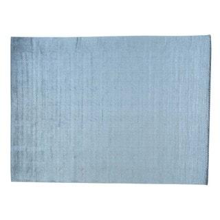 Viscose From Bamboo Tone On Tone Loomed Chevron Oriental Rug (9' x 12')
