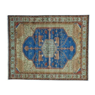 Antiqued Bakshaish Natural Dyes 300 KPSI Hand-knotted Rug (8'1 x 10')