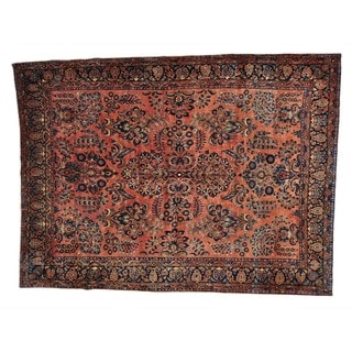 Antique Persian Maharajan Sarouk Full Pile and Soft Rug (8'6 x 11'9)