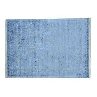 Kashan 300 KPSI Wool/ Silk Handmade Oriental Rug (5'7 x 7'10)