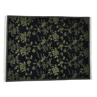 Modern Tibetan Pure Wool Botanical Handmade Rug (9' x 11'7)