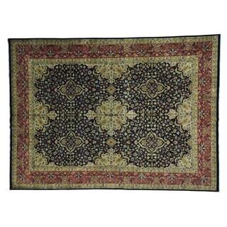Kashan Revival Dense Weave New Zealand Wool Handmade Rug (8'10 x 12')