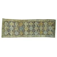 Antique Persian Bakhtiar Wide Runner Rug