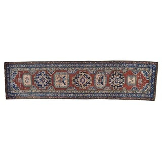 Antique North West Persian Wide Runner Rug (3'7 x 14'2)