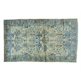 Antique Persian Kerman Tree of Life Hand-knotted Rug (5' x 8'4)
