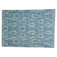 Ikat Uzbek Wool Handmade Oriental Rug - 10' x 14'