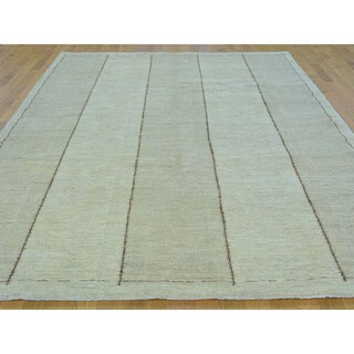 Pure Wool Hand-knotted Modern Gabbeh Oriental Rug (6'9 x 9'6)