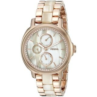 Fossil Women's ES3890 'Chelsey' Multi-Function Crystal Two-Tone Stainless Steel Watch