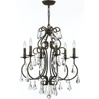 Crystorama Ashton Collection 6-light English Bronze Chandelier
