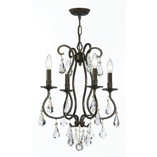 Crystorama Ashton Collection 4-light English Bronze Mini Chandelier