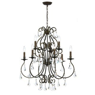 Crystorama Ashton Collection 9-light English Bronze Chandelier