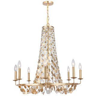 Crystorama Bella Collection 8-light Antique Gold Chandelier