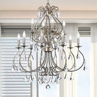 Crystorama Ashton Collection 12-light Olde Silver Chandelier