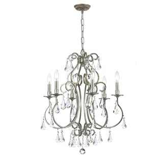 Crystorama Ashton Collection 6-light Olde Silver Chandelier