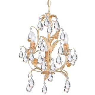Crystorama Athena Collection 3-light Champagne Mini Chandelier
