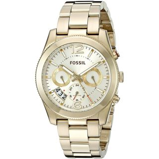 Fossil Women's ES3884 'Perfect Boyfriend' Multi-Function Gold-Tone Stainless Steel Watch