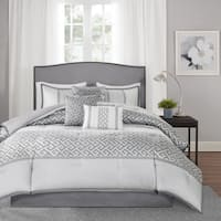 Madison Park Christian 7-Piece King Size Comforter Set in Grey (As Is Item)