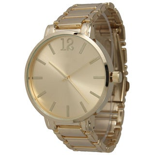 Olivia Pratt Women's Classic Stainless Steel Bracelet Boyfriend Watch