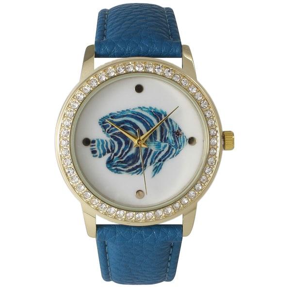 Olivia Pratt Women's Leather Glamour Fish Watch