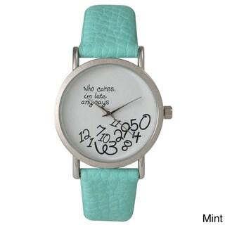 Olivia Pratt Women's Leather Care Free Watch