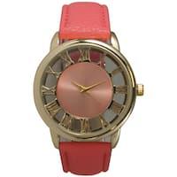 Olivia Pratt Women's Leather See-Through' Classic Watch