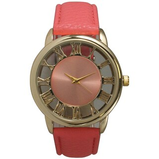 Olivia Pratt Women's Leather See-Through' Classic Watch