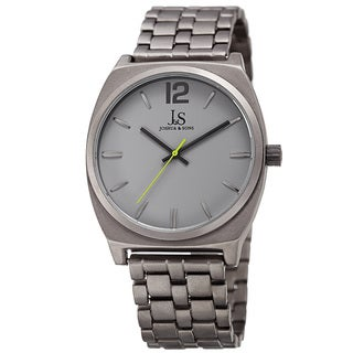 Joshua & Sons Men's Quartz Sunray Dial Grey Bracelet Watch