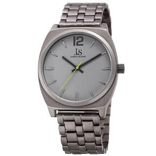 Joshua & Sons Men's Quartz Sunray Dial Grey Bracelet Watch with FREE GIFT|https://ak1.ostkcdn.com/images/products/11197909/P18187904.jpg?impolicy=medium