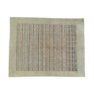 Modern Gabbeh Pure Wool Hand-knotted Oriental Rug (5' x 6'4)
