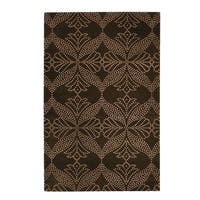 Picturesque-Grace Rectangle Cocoa Hand Knotted Rugs - 9' x 12'