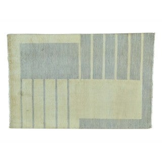 Gabbeh Pure Wool Modern Hand-knotted Oriental Rug (4'6 x 7')