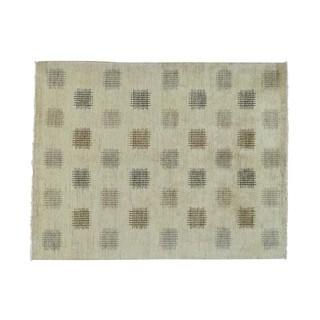 Modern Hand-knotted Gabbeh Wool Oriental Rug (5'3 x 6'10)