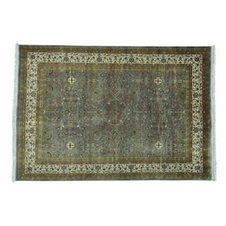 Kashan Revival 300 KPSI Wool and Silk Handmade Rug (5'2 x 7'6)