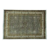 Kashan Revival 300 KPSI Wool and Silk Handmade Rug - 5'2 x 7'6