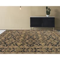 Ariel Charcoal Traditional Design Hand-knotted Rug (6' x 9') - 6' x 9'