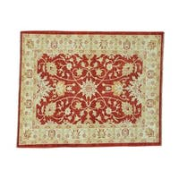 Ziegler Mahal Oushak Pure Wool Hand-knotted Oriental Rug (5' x 6'2)
