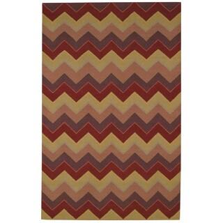 "Williamsburg Irish Stitch Rectangle Flat Woven Rugs (8' x 11' 6"") - 8' x 11'6"