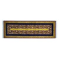 Striped Kashkuli Pure Wool Handmade Oriental Runner Rug (2'9 x 8'3)