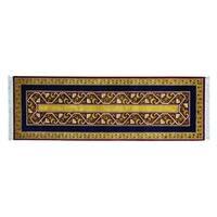Striped Kashkuli Pure Wool Handmade Oriental Runner Rug - 2'9 x 8'3