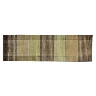 Hand-knotted Pure Wool Modern Gabbeh Oriental Runner Rug (2'7 x 8'6)