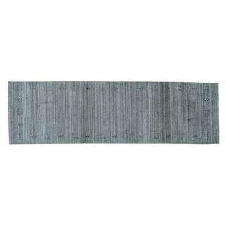 Folk Art Loomed Gabbeh Pure Wool Oriental Runner Rug (2'5 x 8')