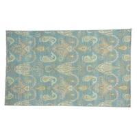 Ikat Uzbek Wool Handmade Oriental Rug - 6' x 9'8