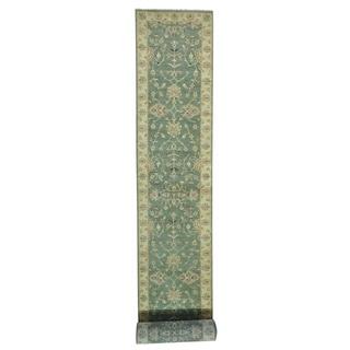 Handmade Pure Wool Hard Twist Agra XL Oriental Runner Rug (3'2 x 32'2)