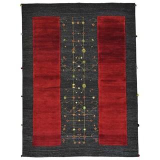 Hand-knotted Soumak Weave Gabbeh Pure Wool Oriental Rug (5'9 x 7'10)