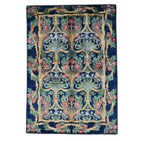 Viscose from Bamboo Modern Arts and Crafts Handmade Oriental Rug (5'7 x 8')