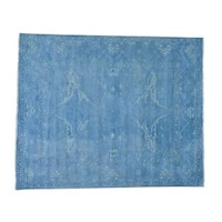 Overdyed Oushak Pure Wool Hand-knotted Oriental Rug (8'1 x 9'10)