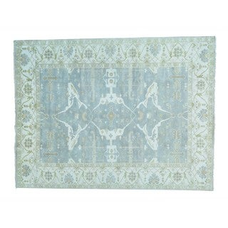 Oushak Pure Wool Hand-knotted Oriental Rug (10'3 x 13'5)