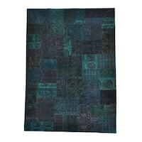 Afghan Turkoman Patchwork Overdyed Handmade Rug (8'10 x 12'1)
