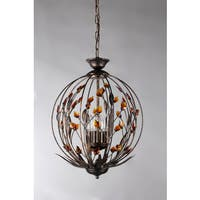 Quadaishia 4-light Bronze 16-inch Crystal Chandelier